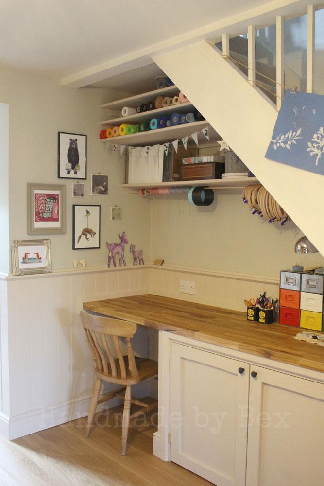Under the Stairs Storage Closet Ideas - Craft Room