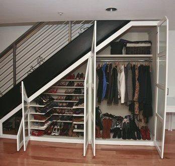 Under the Stairs Storage Closet - Wardrobe Storage