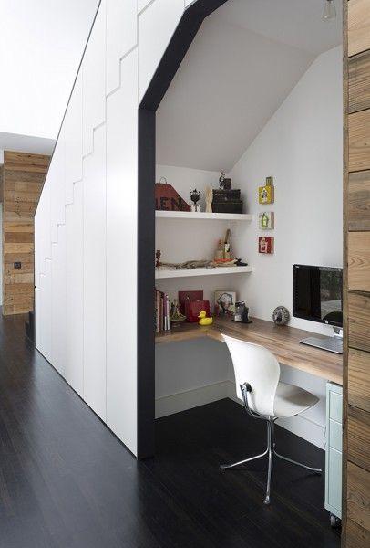 Under the Stairs Storage Closet Ideas - Workspace
