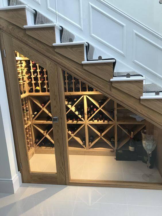 Under The Stairs Storage Closet Ideas Wine Cellar