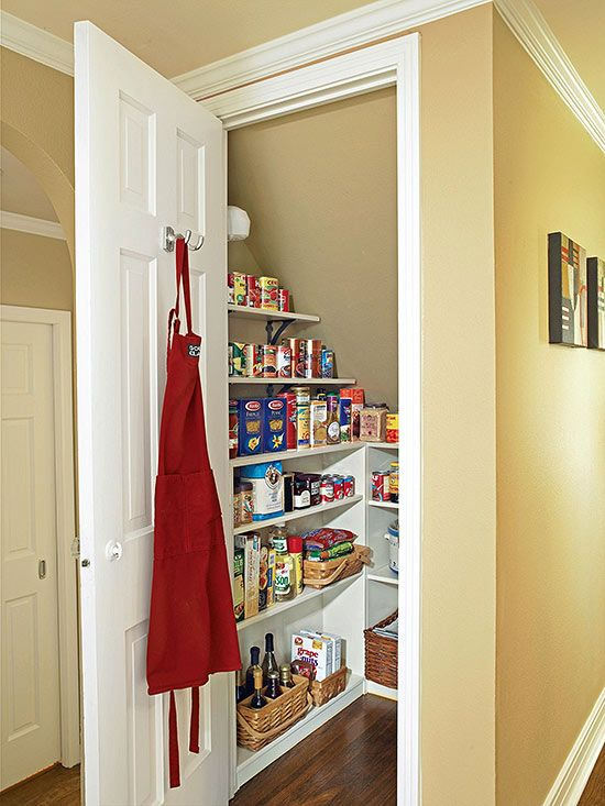 Under the Stairs Storage Closet Uses Ideas - Pantry