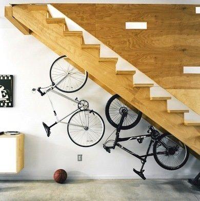 Under the stairs storage closet ideas - bike storage