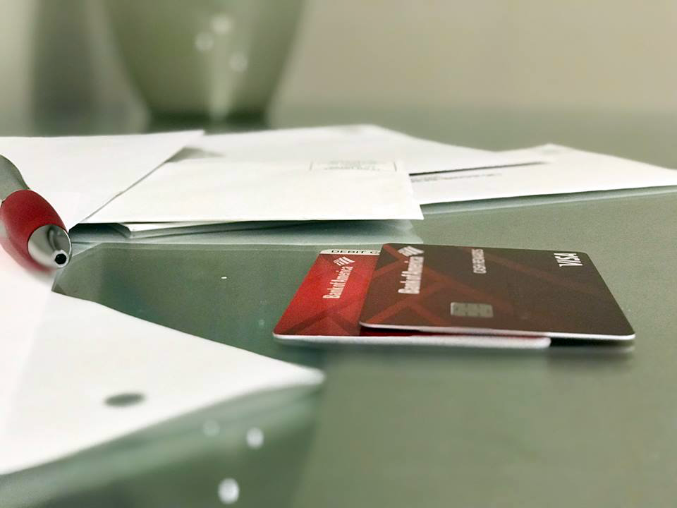 Notify your credit card companies when moving.