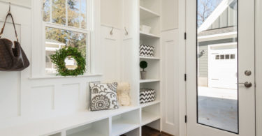 How to keep a house clean: a beautiful home with shelves and storage solutions