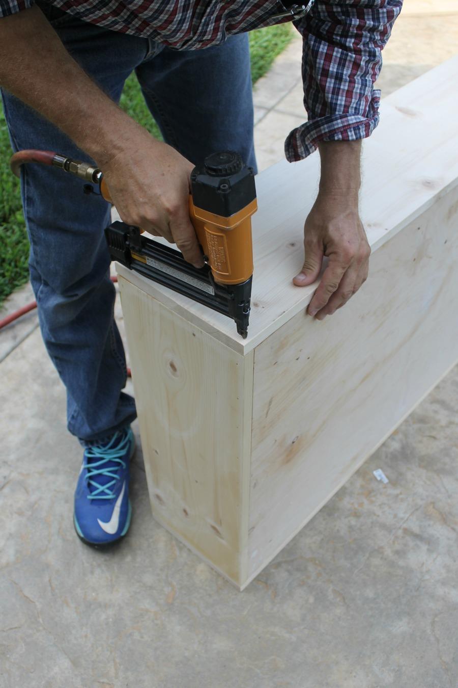 Under Bed Storage DIY Drawer How To - Nail Gun Step 4