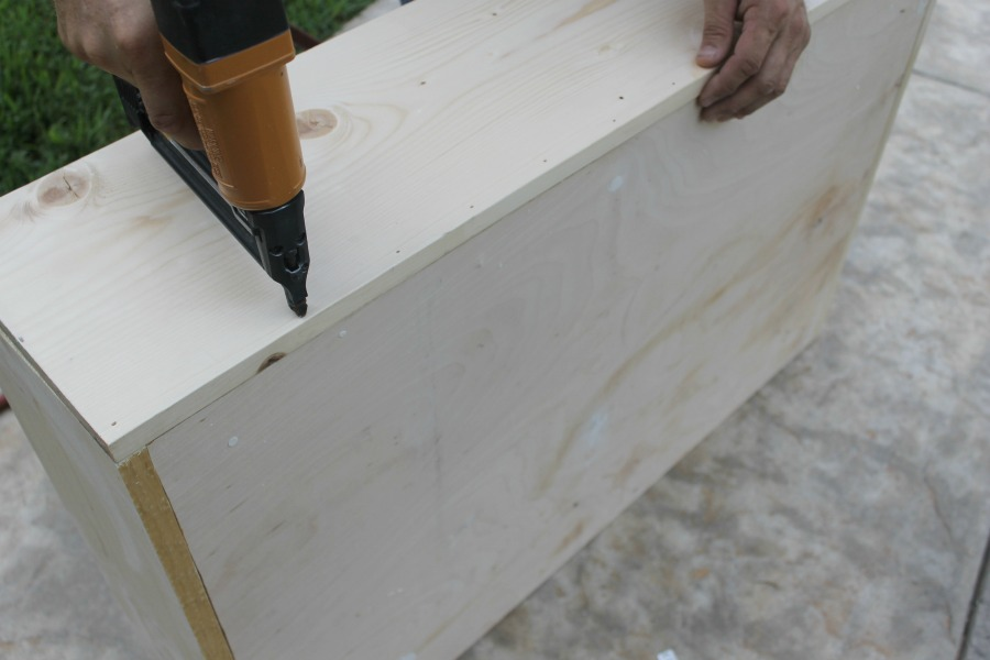 Under Bed Storage DIY Drawer How To - Nail Gun Step 3