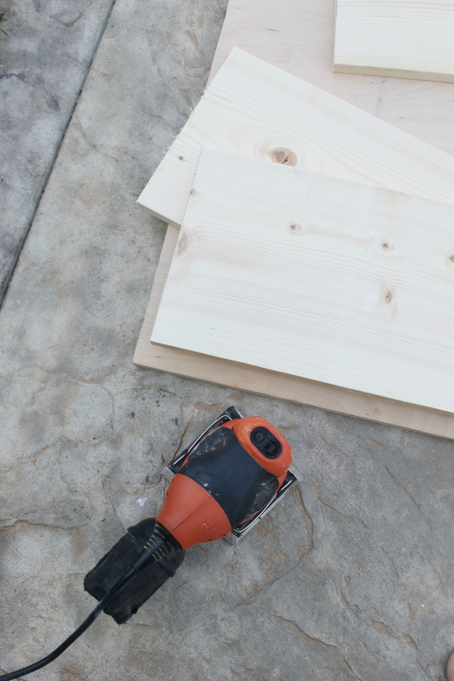Plywood and Sander for Under Bed DIY Drawers