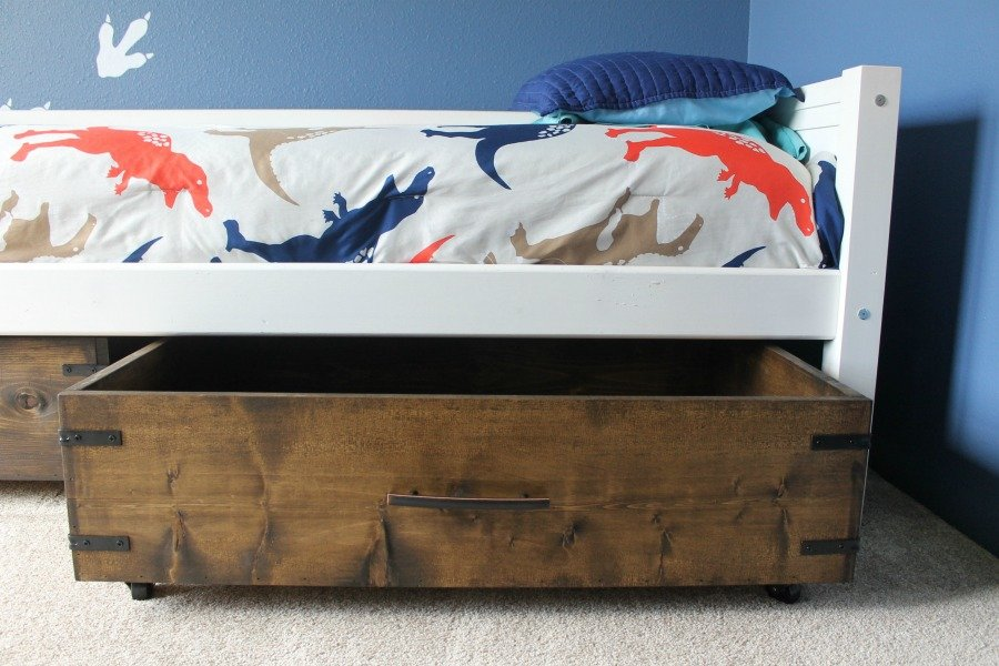 Under Bed Storage DIY Finished Product - Open