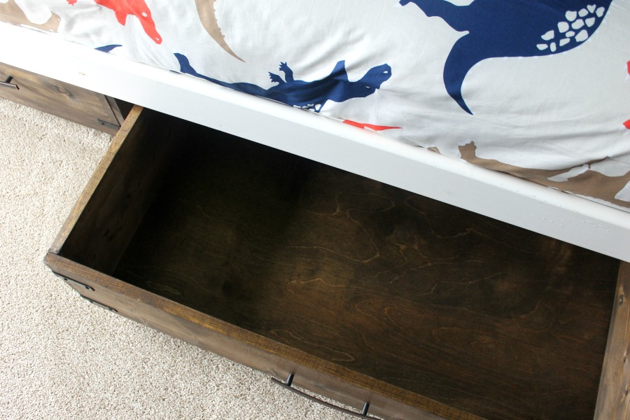 Under Bed Storage DIY Finished Product - From Above