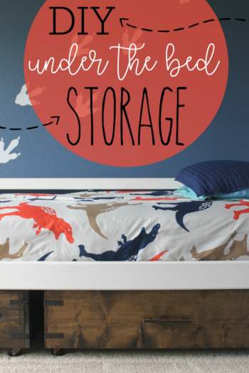 Under Bed Storage DIY Drawer Tutorial Pin