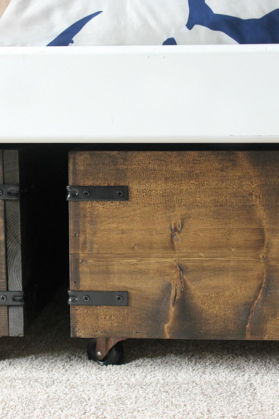 Under Bed Storage DIY Finished Product - Vertical