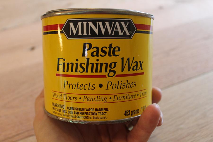 DIY Kitchen Storage: DIY Kitchen Island Tutorial - Paste finishing wax