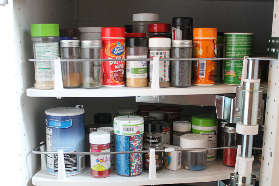 DIY Kitchen Storage: Consider investing in a Lazy Susan or making your own to organize spices and other packaged goods