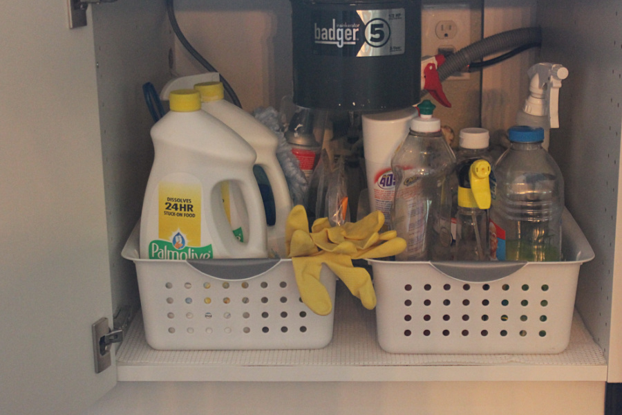 DIY Kitchen Storage Ideas: Use boxes and bins to your advantage to keep everything organized
