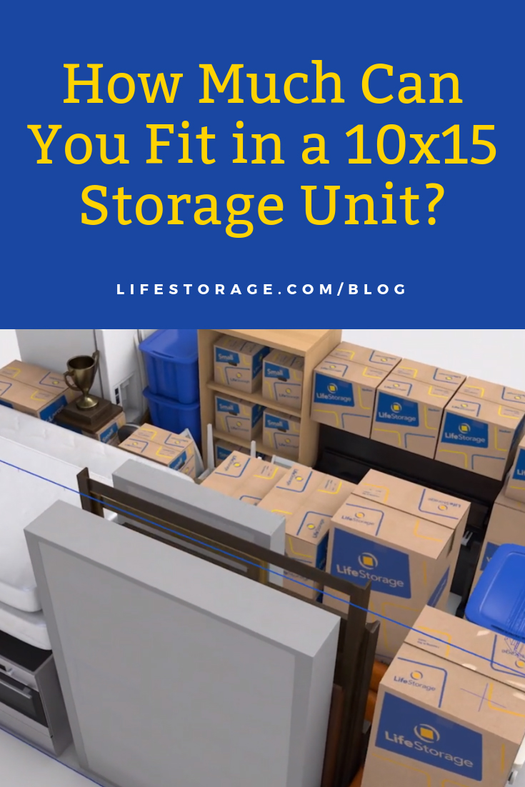 How much can you fit in a 10x15 storage unit? Boxes with items inside of a storage unit