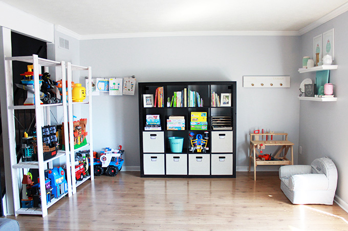 How to declutter and organize your child's playroom