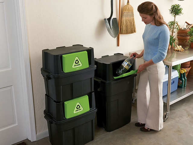 How to declutter and organize your home monthly - recycle