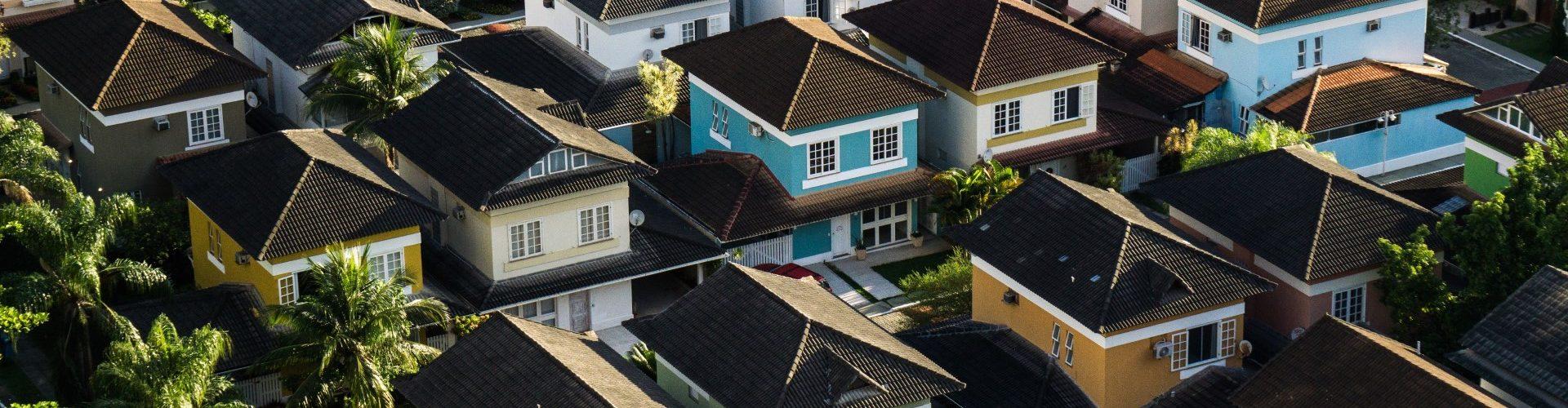Houses in residential neighborhood