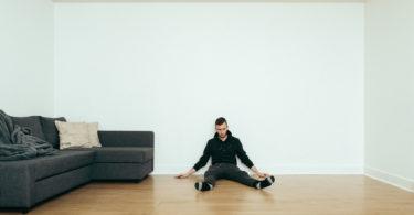 a man living alone