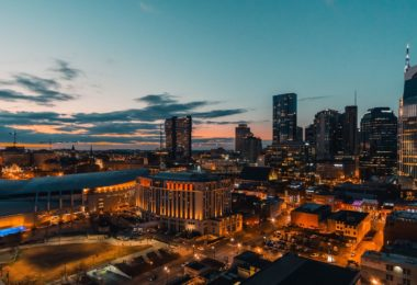 Skyline Nashville at Sunset