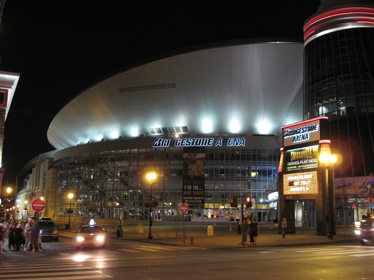 Bridgestone Arena Nashville Night