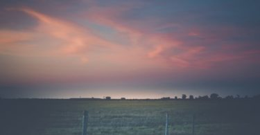 Beaumont, Texas Sunset Over Open Field
