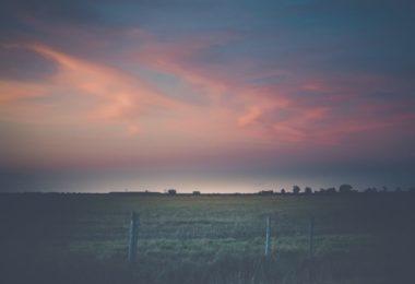 Beaumont, Texas Sunset Over Open Field